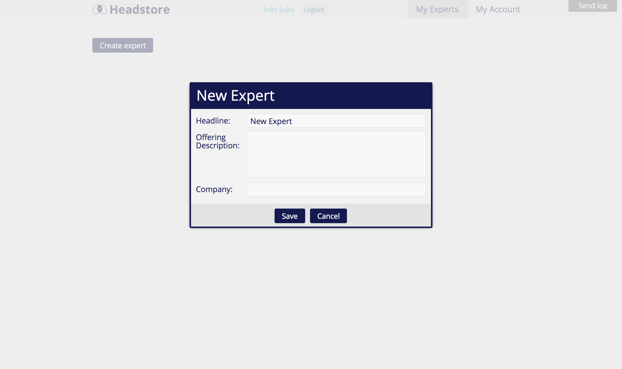 Old - Enter Information for new expert